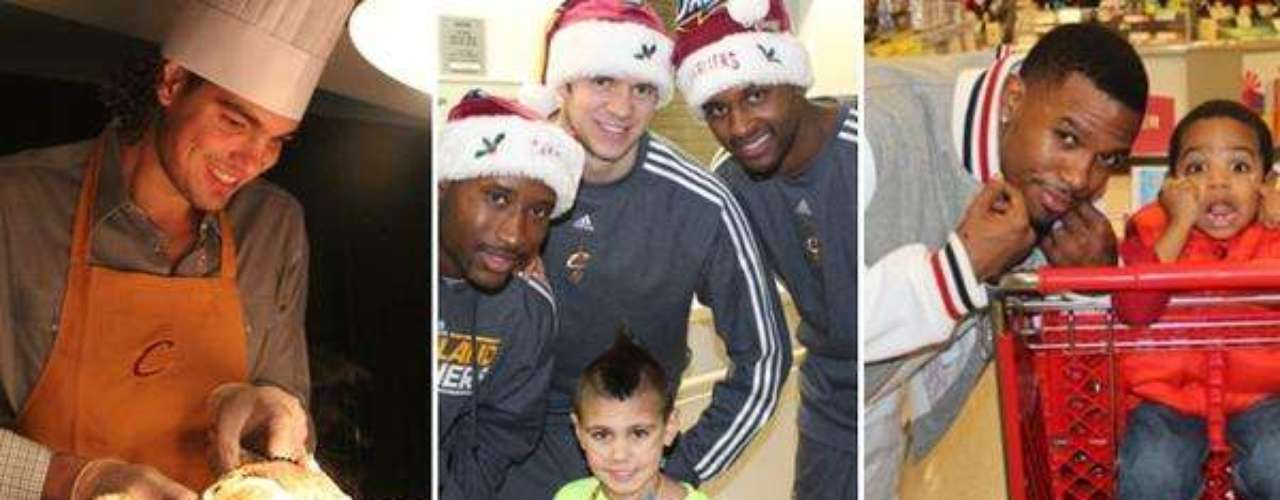Jugadores de los Cavaliers de Cleveland convivieron con su comunidad.