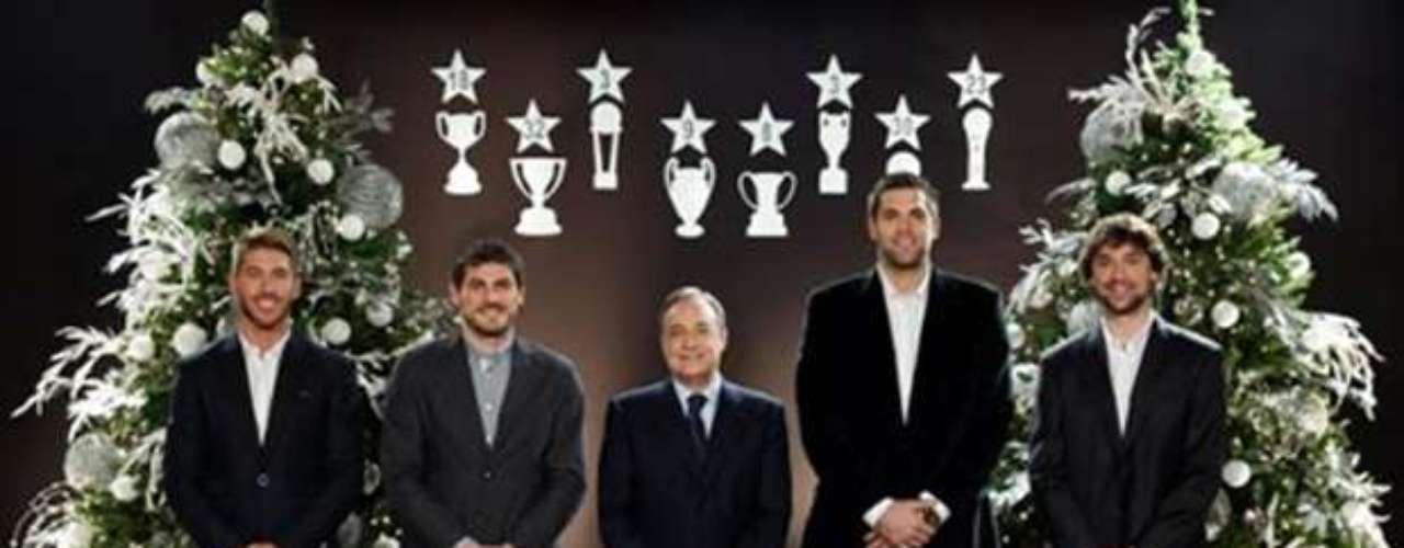 Real Madrid mostró su unión de cara al año 2013