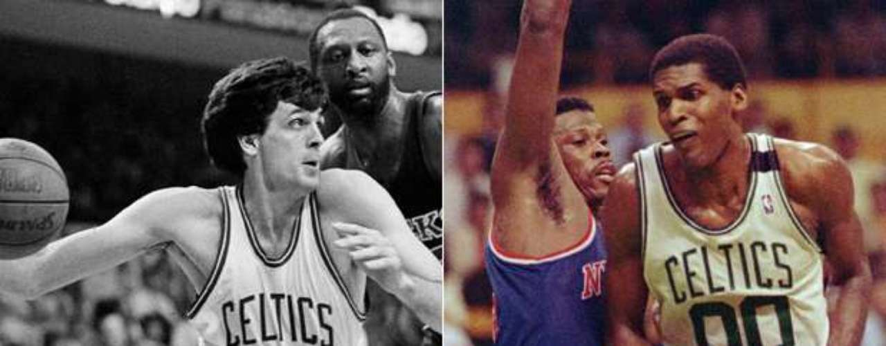 Warriors trade Robert Parish and first-round pick (Kevin McHale) to the Boston Celtics (1980): The Celtic dynasty was reborn in 1980, when Red Auerbach traded the No. 1 and No. 13 picks in the draft for the rights to Parish and the No. 3 overall choice, which they used to select Kevin McHale. Together with Larry Bird, McHale and Parish helped comprise the best frontcourt in the NBA and won three NBA titles, while the Warriors selected Joe Barry Carroll with the first pick and Ricky Brown with the 13th choice. Carroll averaged more than 20 points a game in four of his 6+ years in Golden State, but only led the team to the playoffs once. Brown lasted just five seasons and never averaged more than 6 points per game.