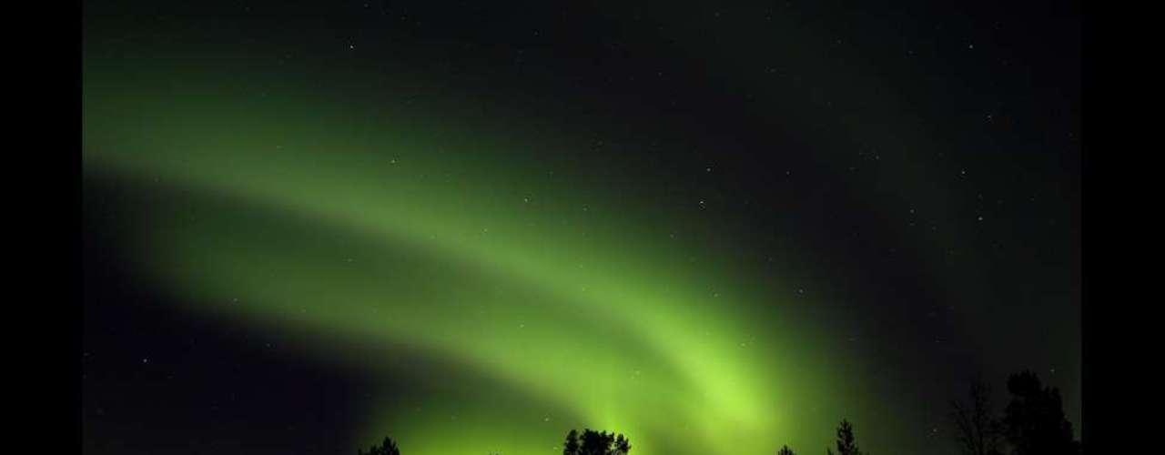 Aurora boreal en Finlandia. Todas las fotos de esta galería pertenecen al primer libro de Green, \