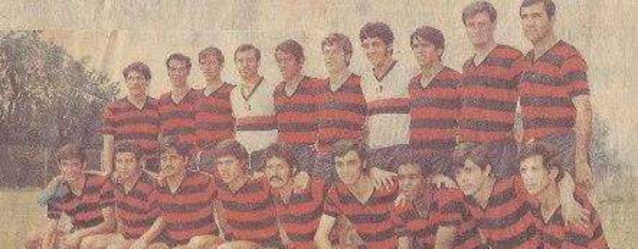 Así era el uniforme con el que Atlas perdió la categoría en la campaña 1970-71.