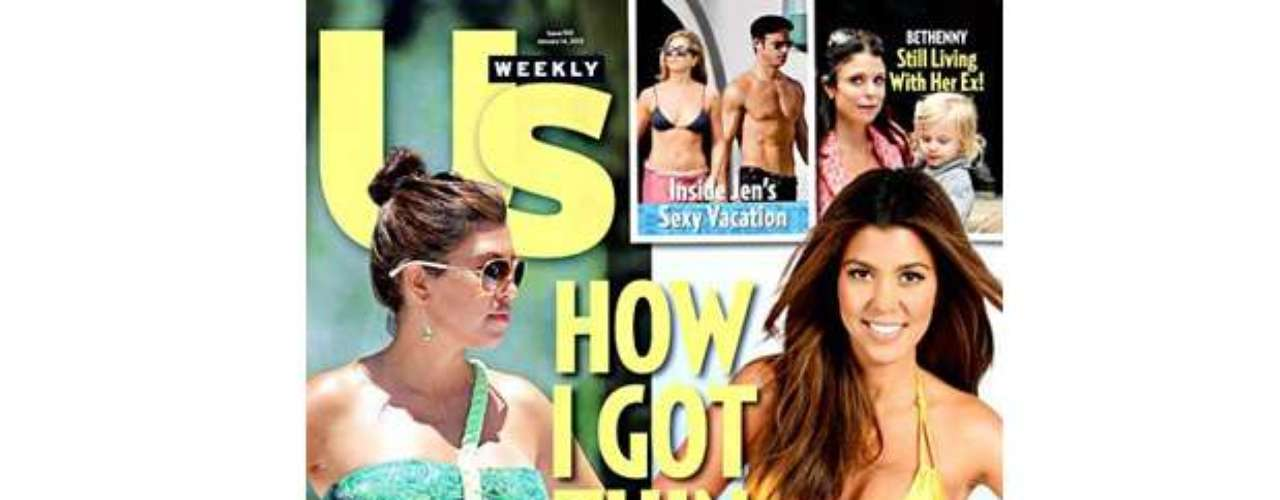 Keeping up with the Kardashians...just six months after giving birth to her second child, Kourtney has already shed a whopping 44 pounds and is in tip-top shape. Us says it published unretouched pictures of the reality star poolside. At 5 feet tall, Kourtney is now 106 pounds. But honestly, is Kourtney THAT busy she wouldn't have time to get on a diet?! Her job is being taped around doing....well, just being herself. Whooooa...SOOOO busy-LOL!