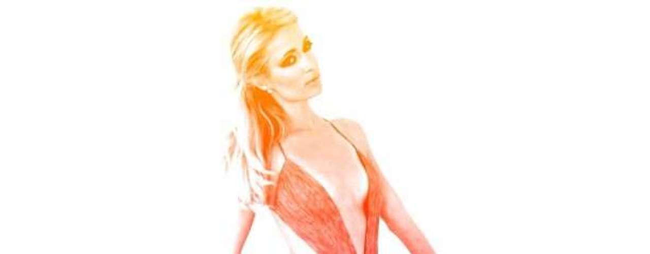 En su cuenta de Instagram larubia publica sus atuendos más arriesgados. Aquí la vemos con un vestido con escote profundo en \