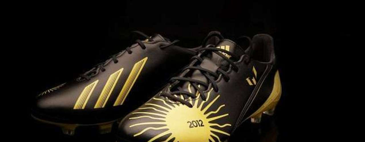 The soccer world continues to honor Lionel Messi, who recently picked up his fourth consecutive Ballon d'Or award as the world's best player. His shoe sponsor, Adidas, celebrated the accomplishment by coming out with new cleats which highlight the achievement.