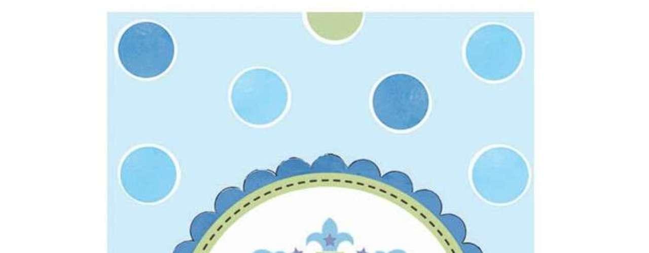 La colección Little Prince, Little Princess incluye platos de papel, servilletas, y tarjetas para baby shower, todos inspirados en el futuro bebé real.
