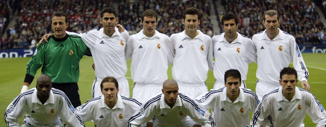Plantel del último equipo campeón del Real Madrid. Eran un auténtico cuadro 'galáctico'