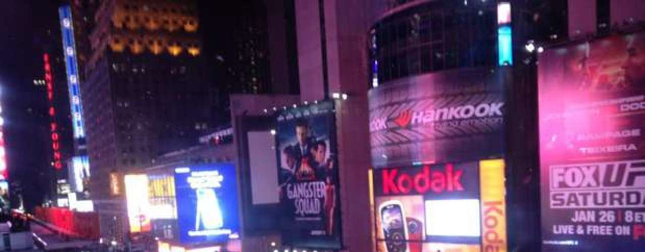 Matt Hunter's view of New Years Eve from Times Square in his hometown, NYC.