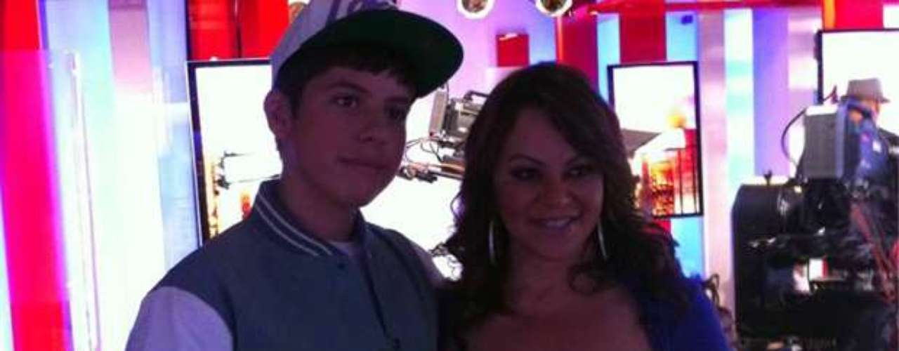 Here's adorable Matt meeting deceased ranchero queen, Jenni Rivera, for the first time. What a special moment!
