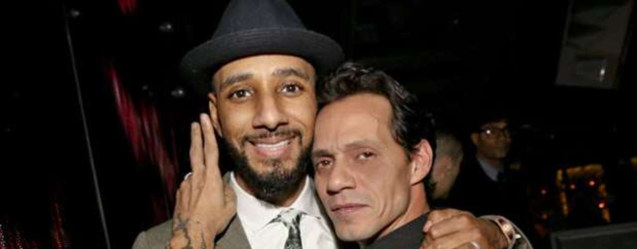 Marc and a galaxy of stars including Swizz Beatz (picture, left) attended last night's re-opening of Marquee New York.