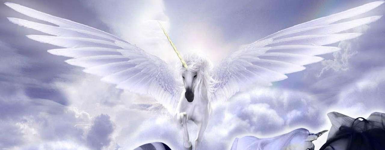 'Mujer Luna Bella' ha dicho que le encantan los unicornios y sus seguidores le regalan imágenes como ésta, en la que se ve junto a la mitológica criatura.
