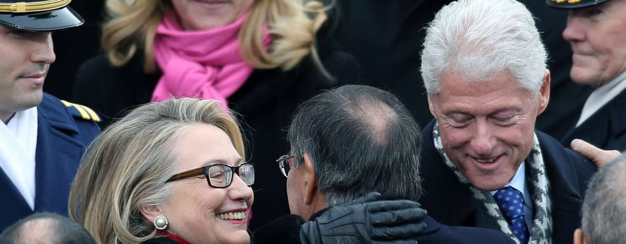 Other people at the event were ex-President Bill Clinton and his wife Hillary, who enthusiastically greeted Secretary of Defense Lon Panetta.The Clinton were great supporters of Obama during his reelection campaign.
