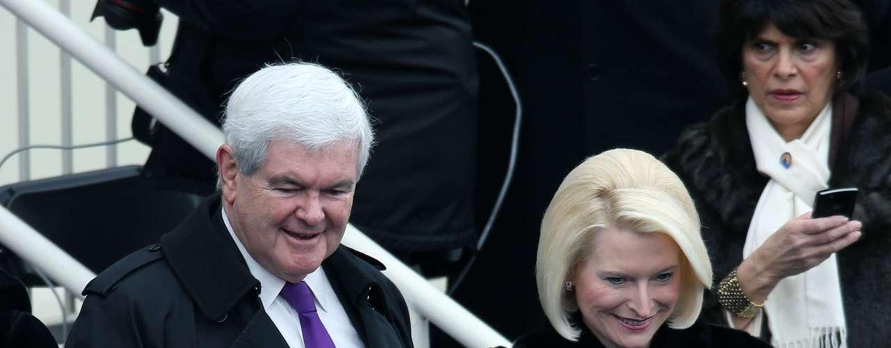 Entre los invitados también estuvo el ex candidato republicano Newt Gingrich y su esposa Callista.