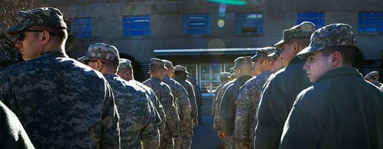 Los soldados de la Guardia Nacional provienen de más de 25 estados de la Unión Americana y fungirán como policías especiales durante la Inauguración Presidencial número 57.