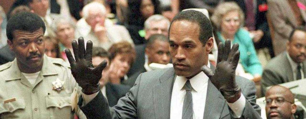 O.J. Simpson: On June 17th, 1994, legendary Buffalo Bills runningback  O.J. Simpson was accused of murdering his wife Nicol and Ronald Goldman. Simpson did not surendered himself and his escape attempt on a Ford Bronco is worldwide famous. Simpson was declared no guilty. On September 6th, 2008 he was sentenced to a minimum of 9 years in prison for theft and kidnapping at a hotel in Las Vegas.