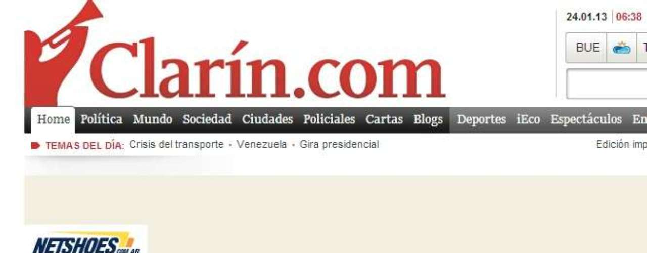 The newspaper Clarín of Argentina also echoed the news.
