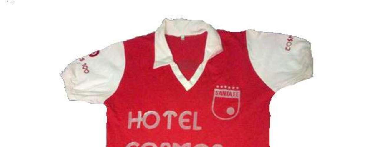 Camiseta de Independiente Santa Fe en año 1985