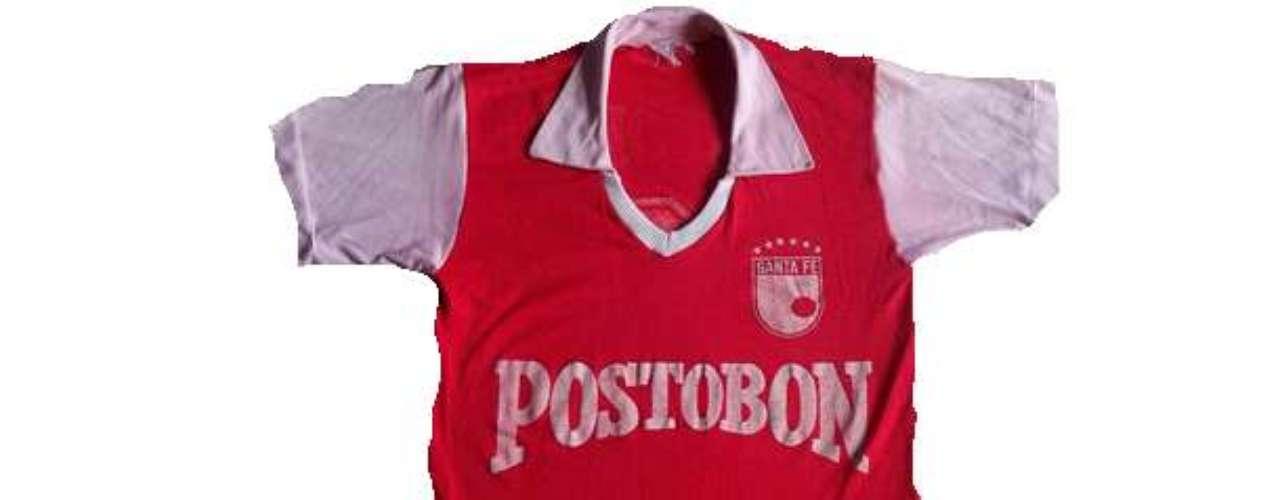 Camiseta de Independiente Santa Fe en años 1987 - 1988