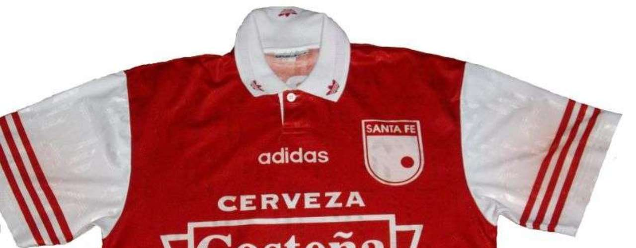 Camiseta de Independiente Santa Fe en año 1997