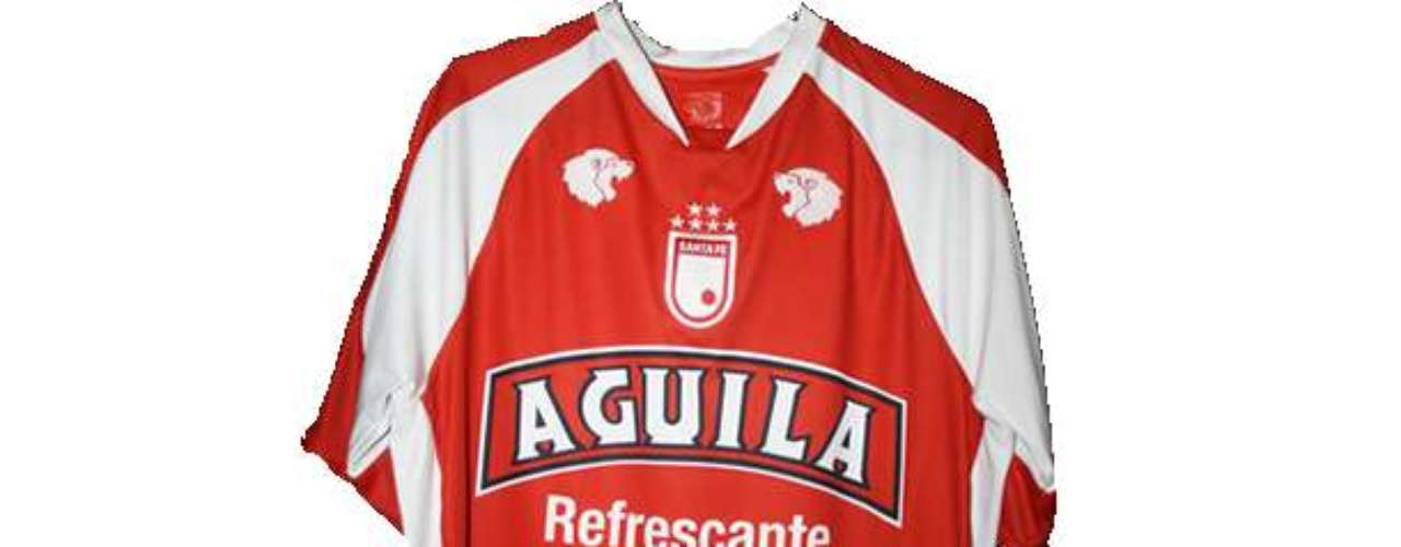 Camiseta de Independiente Santa Fe en año 2007