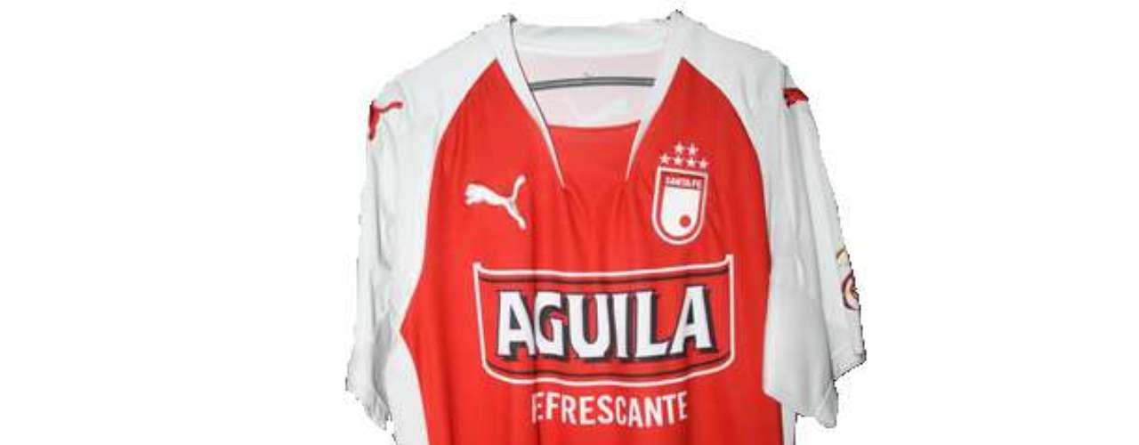 Camiseta de Independiente Santa Fe en año 2008