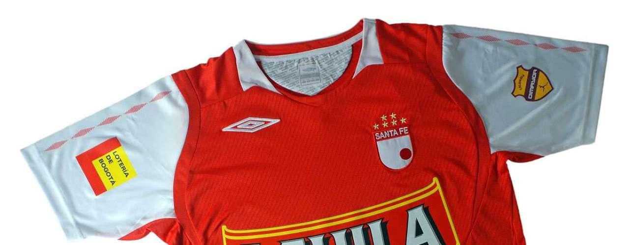 Camiseta de Independiente Santa Fe en año 2009