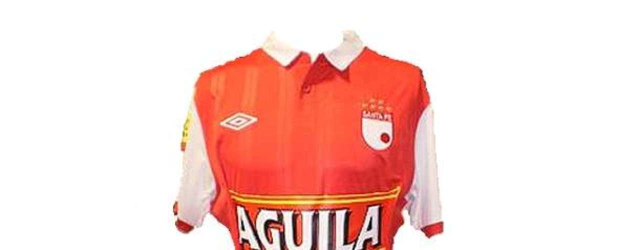 Camiseta de Independiente Santa Fe en año 2010