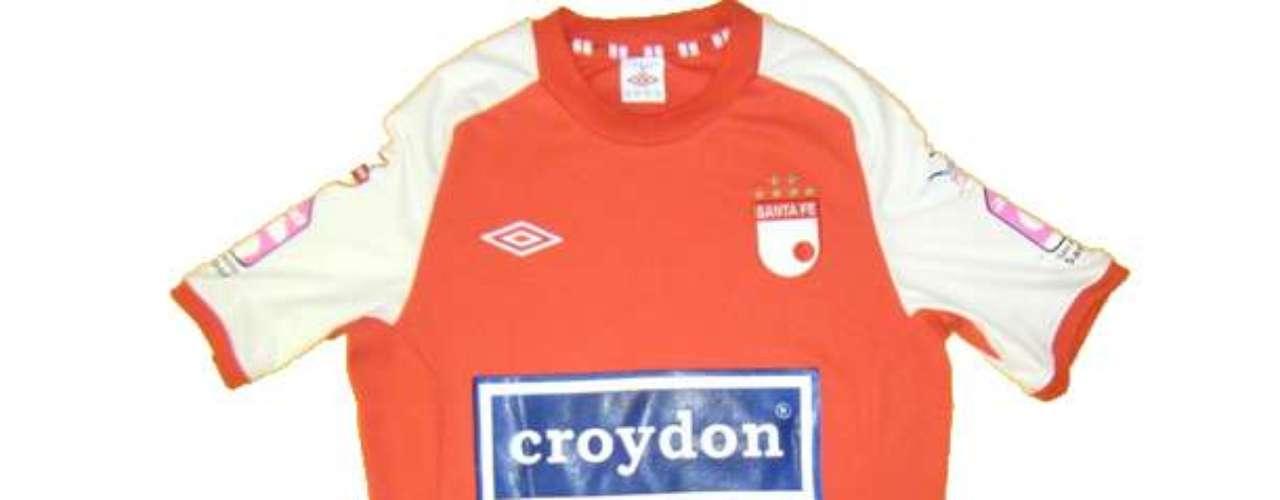 Camiseta de Independiente Santa Fe en año 2011