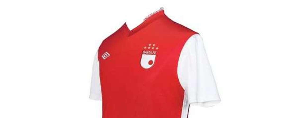 Camiseta de Independiente Santa Fe en año 2012