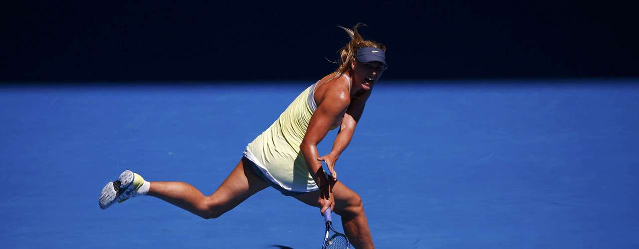 Sharapova, the second seed, missed a chance to gain on no. 1 seed Victoria Azarenka. REUTERS/David Gr