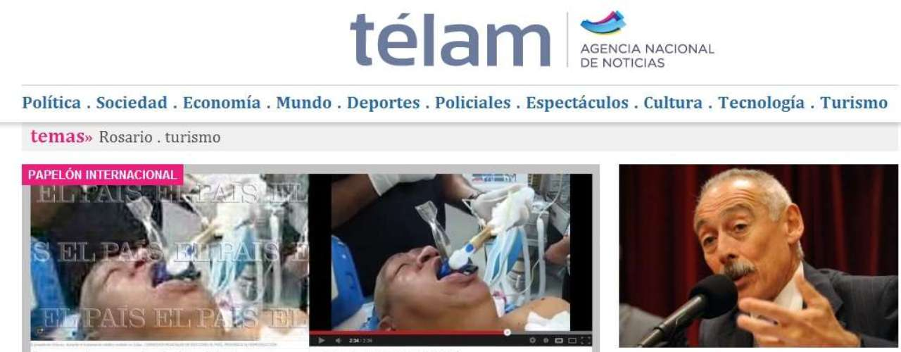 Meanwhile, Argentina's Telam also highlighted the 'blunder.'