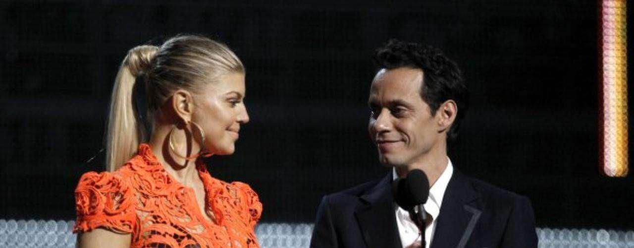 Fergie y su llamativo vestido pusieron nervioso a Marc Anthony.