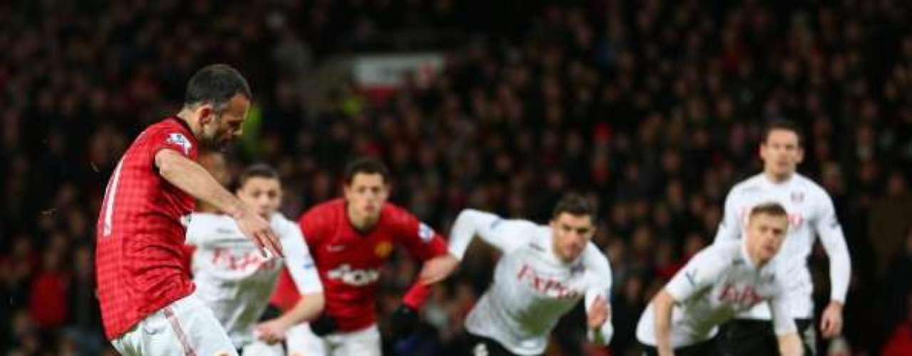 Ryan Giggs opened the scoring for Manchester United by converting a penalty in the 3rd minute.