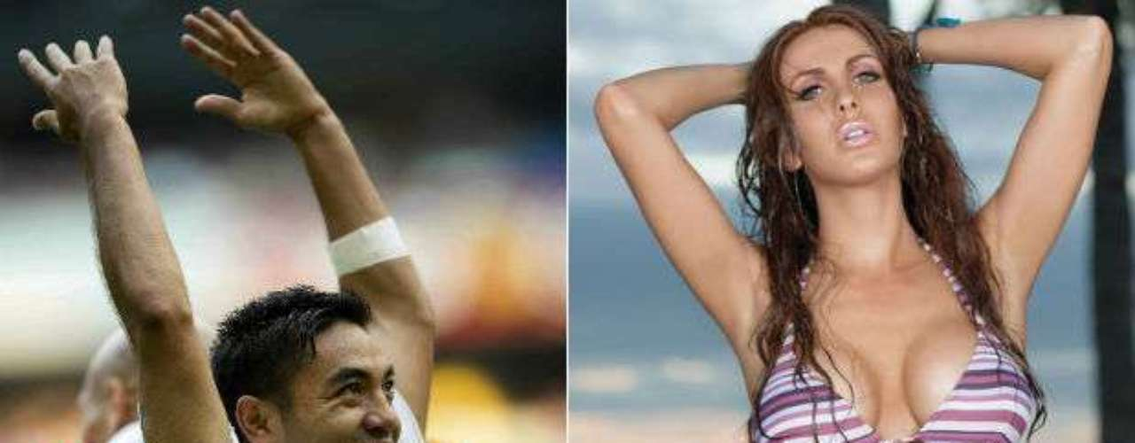 Chivas striker, Marco Fabian, was hooked by actress Ana Bekoa in 2012. Until now, their relationship continues to go well with even talk of a possible wedding.
