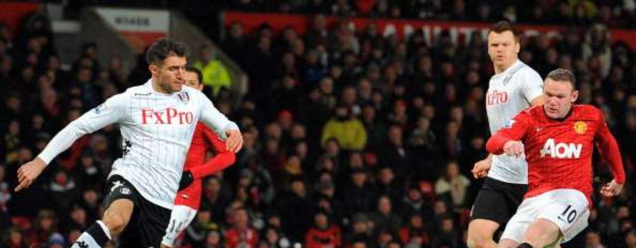 Rooney scored the 2nd goal for the Red Devils with a left-footed blast.