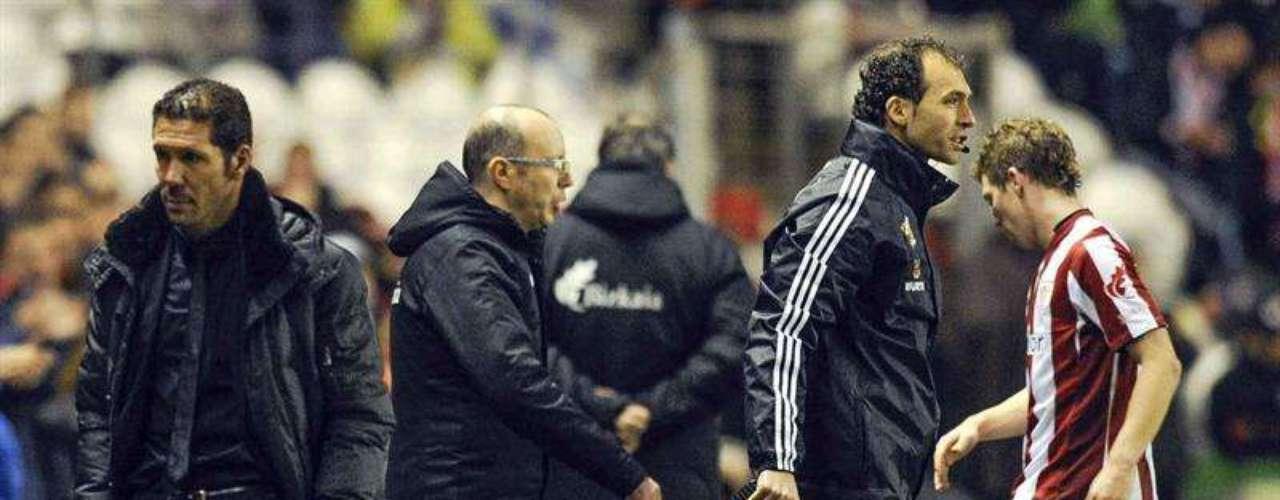 Diego Simeone durante el Athletic de Bilbao 3-0 Atlético de Madrid