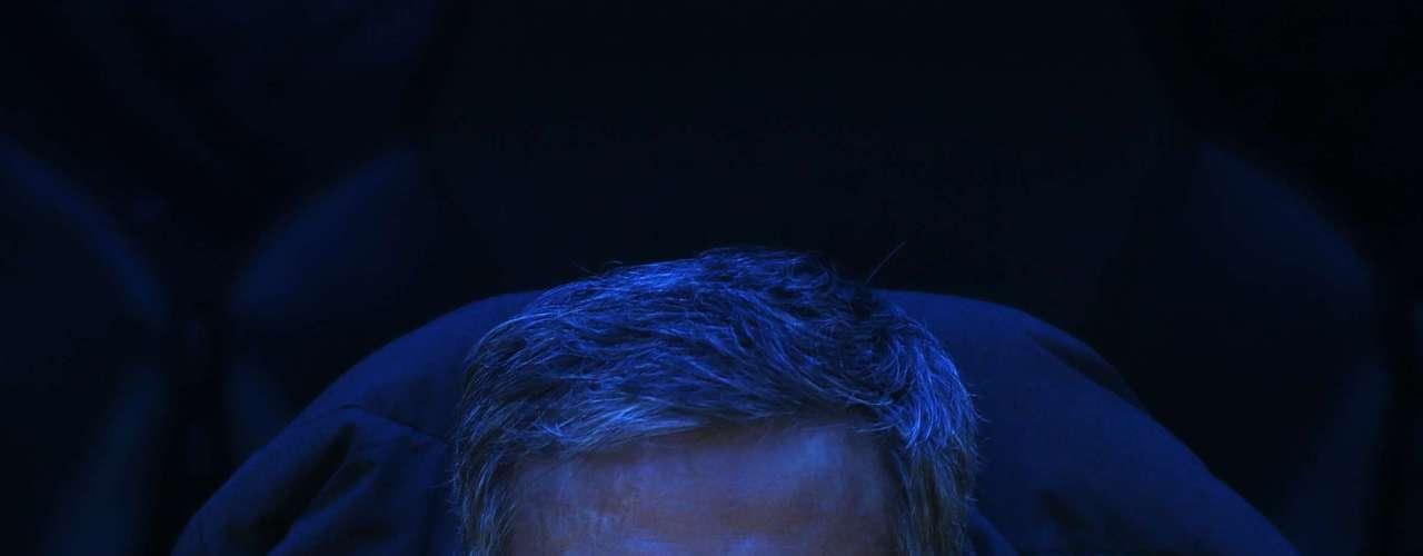 Real Madrid's coach Jose Mourinho looks on.