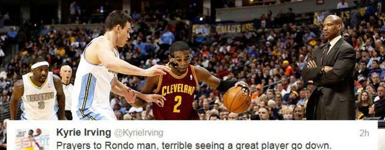 Cleveland Cavaliers star Kyrie Irving also weighed in with his prayers for Rondo.