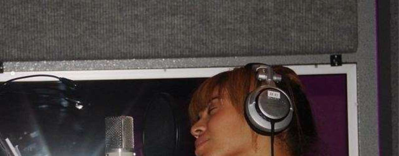 She's also recording her upcoming album.