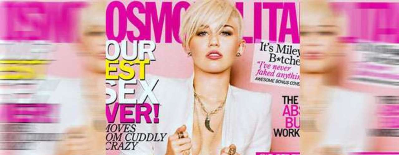 JANUARY 29 - Miley Cyrus is braless and daring on the March 2013 cover of Cosmopolitan magazine. The singer is currently working on her new album which includes collaborations with Pharrell, Odd Future's Tyler, The Creator and songstress Mary J Blige.