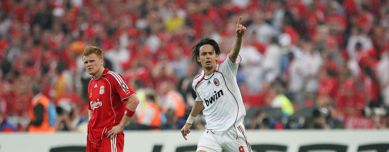Milan tuvo su revancha ante los 'Reds' en 2007 y con doblete de Filippo Inzaghi ganaron 2-1 en la Final de Atenas