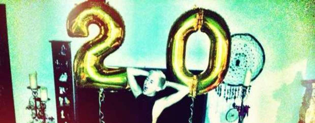 Miley Cyrus celebrates her 20th birthday.