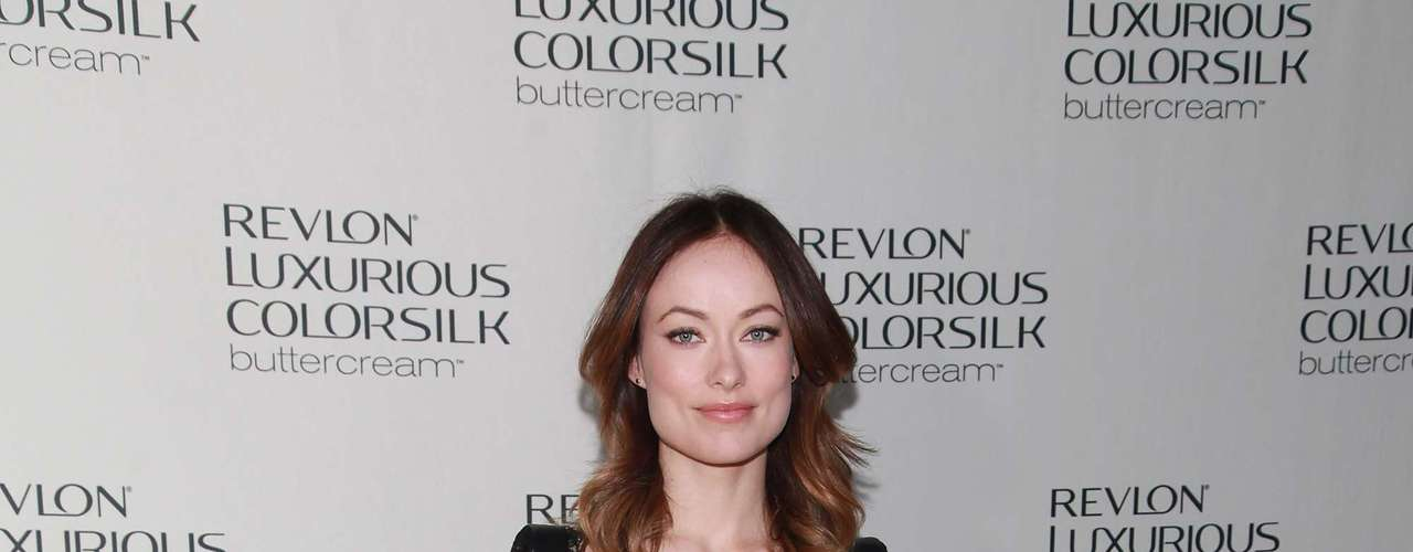 Olivia hosted the Revlon Luxurious ColorSilk Buttercream Launch at The Royalton Hotel on February 7, 2013 in New York City but all eyes were on her gorgeous ring and not so much her hair.