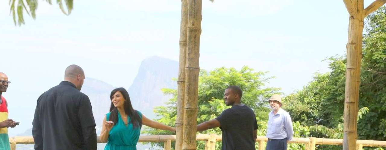 Kim Kardashian y Kanye West fueron de paseo por Brasil