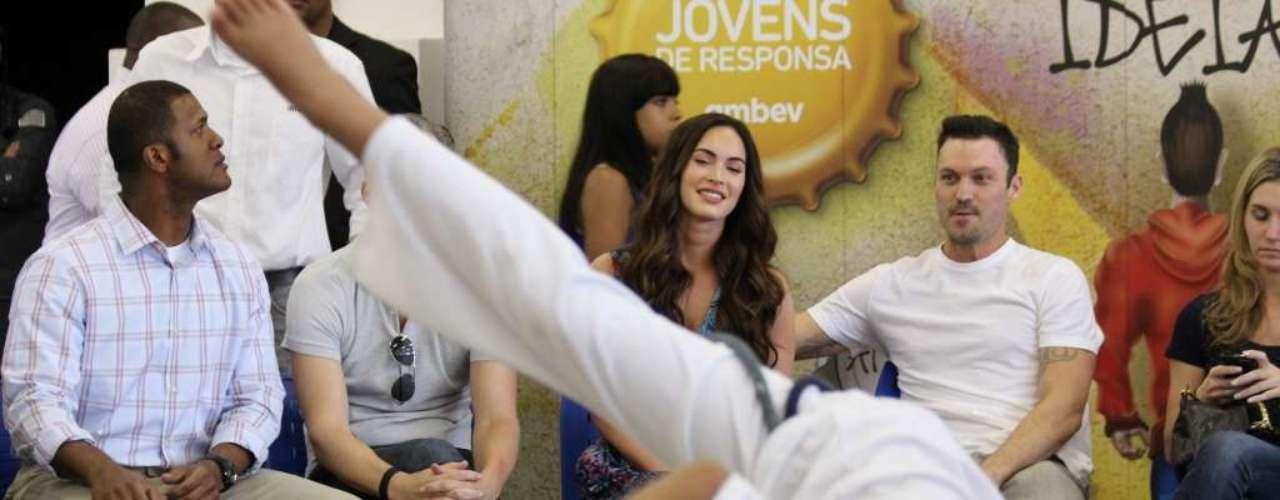 En la tarde la superestrella Megan Fox se acercó a conocer el proyecto por el que decidió hacer este viaje.
