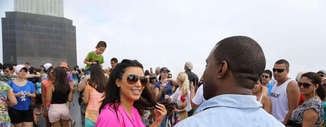Kim Kardashian llegó a Brasil para asistir al carnaval