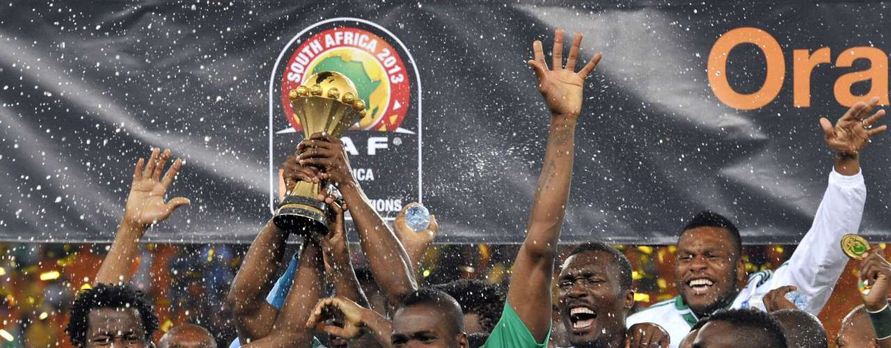 Nigeria celebrates winning the African Cup of Nations for their third time.