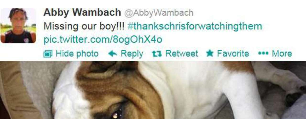 And finally, Abby Wambach missed her best friend.