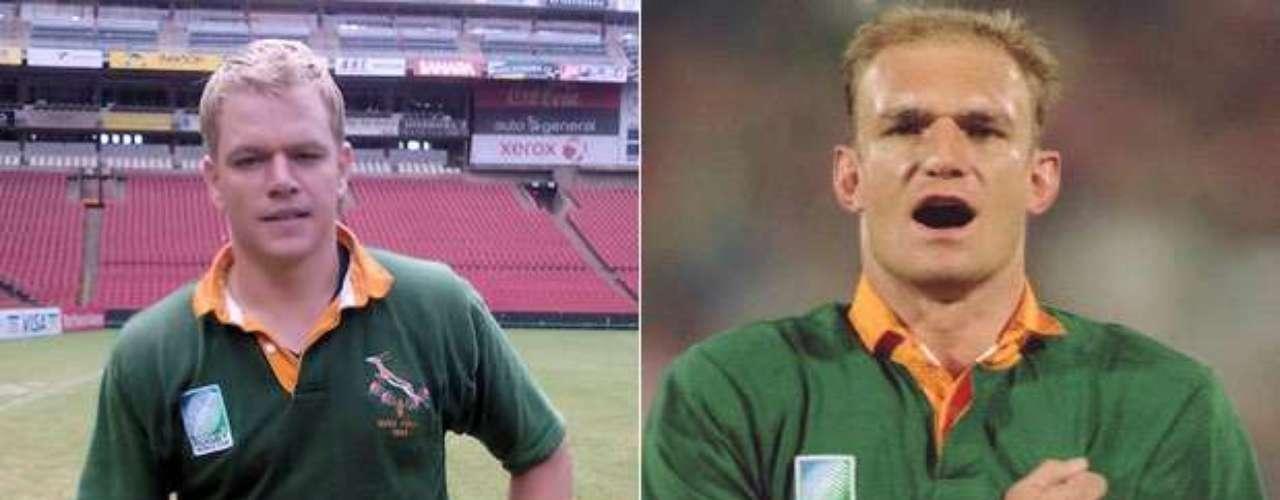 Matt Damon también tuvo una actuación destacada cuando representó al jugador sudafricano de rugby Francois Pienaar en Invictus (2009), quien es conocido por ser el capitán de los campeones mundiales de esa disciplina el Mundial de Sudáfrica 1995. Damon fue nominado al Óscar como mejor actor de reparto.