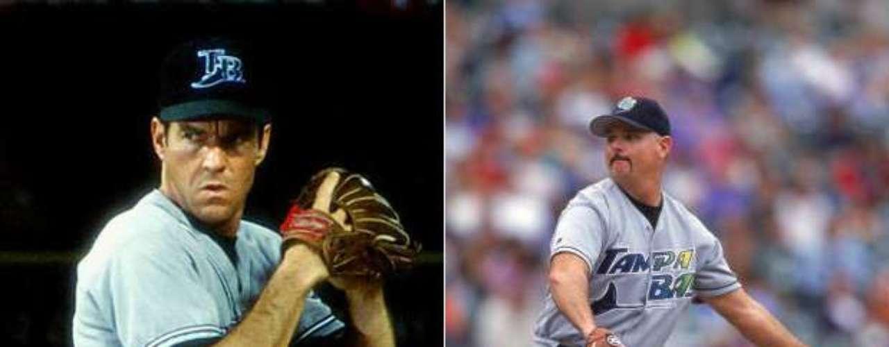 Finalmente tenemos a Dennis Quaid, quien interpretó al ex jugador de las Grandes Ligas Jim Morris en The Rookie (2002).