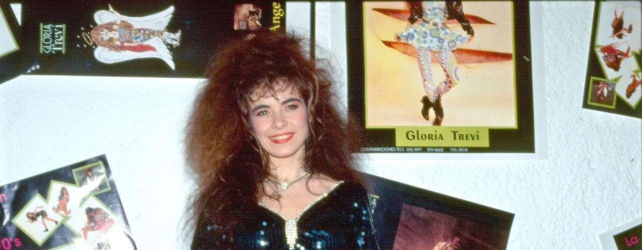 Así Gloria Trevi celebraba el éxito de sus sencillos \